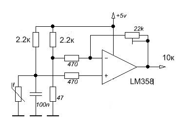 Подключение паяльника с терморезистором.